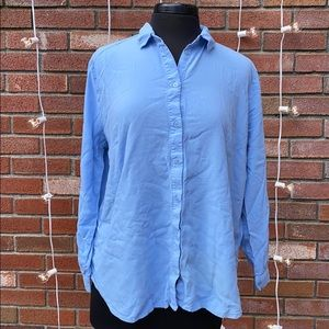 H&M Divided Baby Blue Button Up Professional Shirt